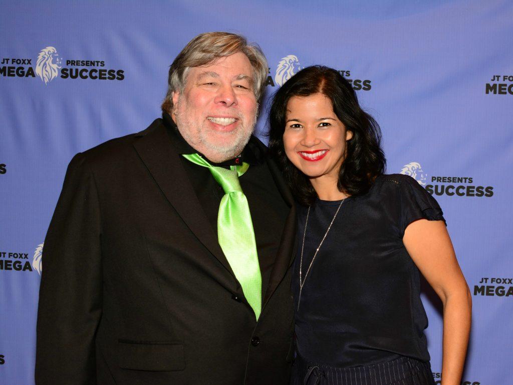 Sandra Fisser with Apple Inc. co-founder Steve Wozniak